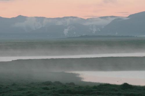 Nótt � friðlandinu � Flóa á suðurlandi